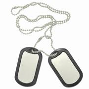 Набивка на армейских американских жетонах Dog-Tag фото