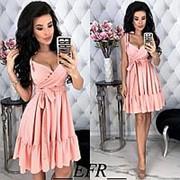 Платье женское на бретельках (3 цвета) - Розовый ЕФ/-400 фото