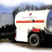 Автоцистерна для транспортировки сжиженных углеводородных газов АЦЗ-10 фото