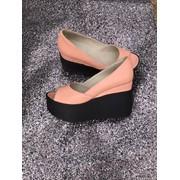 Женские кожаные туфли на платформе в расцветках. ДС-15-0818 фото