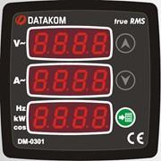 DATAKOM DM-0301 Мультиметр, 75-150V питание, 1 фаза, 72x72mm, 3 дисплея фото