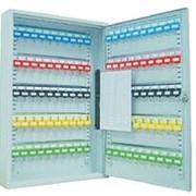 Шкаф Office-Force для 100 ключей, подвесной 550 х 380 х 80 мм, ключ, замок, серый 20086 фото
