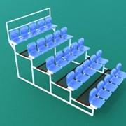 Трибуна спортивная 5-ярусная (25 мест) с пластиковыми сиденьями ТЗП-5-25 фото