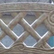 """Форма для еврозабора № 9 """"Камень с балясинами""""верх, Формы для производства заборов из бетона купить фото"""