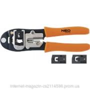 Клещи для обжима телефонных наконечников 4P, 6P, 8P NEO 01-501 фото