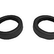 Проставка акусустическая круг ф 16.5 КОЖА черная с накладкой фото