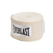 Бинт боксерский Everlast 4455PU 2.75м х/б белый фото