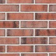 Угловая облицовочная плитка Lode MAXIM красно-черная шероховатая 120x250x65x10 фото