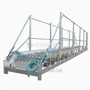 Трап-сходня алюминиевая с эвольвентными ступенями ТСА - 11х600 фото