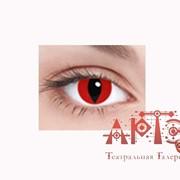 Линза кошачий глаз, красная фото