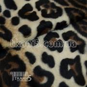 Ткань Мех звери ( леопард ) 2674 фото