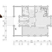 Дом из оцилиндрованного бревна фото