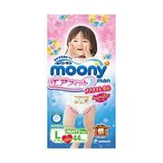 Трусики Moony (L) 9-14 кг для девочек (44 шт.) фото