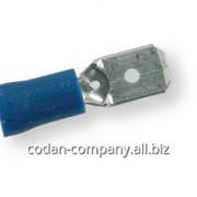 12254 Клеммы ПАПА обжимные изолированные ТМ Berner, синие 6,3х0,8 мм фото