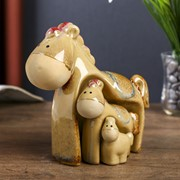 "Сувенир керамика ""Коняшки"" набор 3 шт 15х17,5х8,5 см фото"