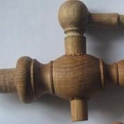 Кран деревянный,дубовый кран,кран в дубовую бочку,точеный деревянный кран фото