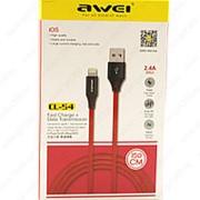 USB Data кабель Awei CL-54 Lightning 1.5m фото
