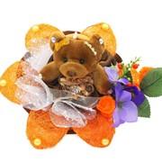 Букет из мягких игрушек Восторг 1079 фото