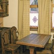 Стол кухонный из дерева 1200х750х750 мм и стулья фото