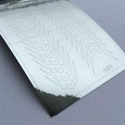 Металлизированные наклейки №101 серебро ххх фото