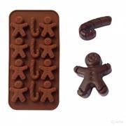 """Силиконовая форма для шоколада, мармелада, льда """"Пряничный человечек"""" фото"""