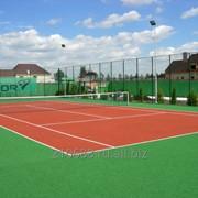 Строительство теннисных кортов, Покрытие для теннисных кортов фото