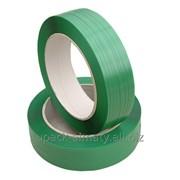 Лента упаковочная зелёная, ПЭТ (PET) фото