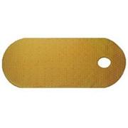 Коврик резиновый без рисунка 88х38 (BR-8838) для ванной на присосках, желтый фото