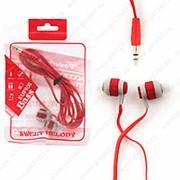 Внутриканальные наушники Super Bass Red (Красный) фото