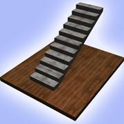 Прямая бетонная монолитная лестница фото