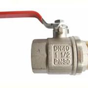 ЗКр108-50 Кран шаровый AW-standart д/води, 50(2) п/м, ручка, 30bar, никель/латунь 4*16 фото
