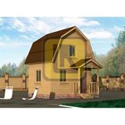 Дом из бруса Проект №3 (5х4 с крыльцом) фото