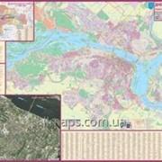 Карта Днепропетровск, план города 135х97 см М1: 26 000 ламинированная Код товара 222669 фото