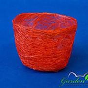Plastiflora Корзина Гиацинт 70*100 ярко-оранжевая из сизаля фото