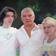 Семейный портрет маслом | Family portrait in oil фото