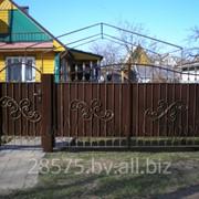 Ворота и калитки кованные фото