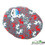 Лежак коврик S овальный с оленями 45*35см фото