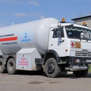 Доставка емкостного сжиженного нефтяного газа фото