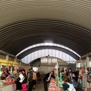 Рынки крытые. Изготовление и монтаж (арочных) крытых рынков. фото