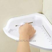 Подставка для ванной на присосках большая угловая. фото