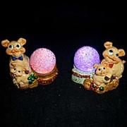 Сувенир LED пара свиней 7см 18831 фото