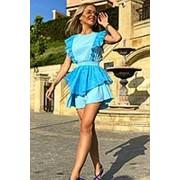 Голубое красивое летнее женское платье АП/-3130 фото