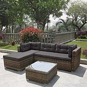 Комплект плетеной мебели AFM-302 Brown/Grey фото