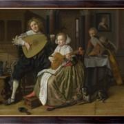 Картина Парень и девушка играют, Моленар, Жен Минс фото
