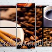 Модульна картина на полотні Колаж з кави код КМ100200(176)-056 фото