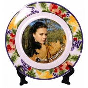 Печать фото и надписей на тарелках фото