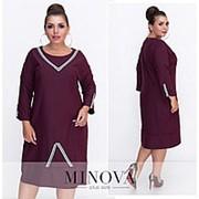 Свободное платье женское прямого кроя (6 цветов) - бордовый ОМ/-570 фото