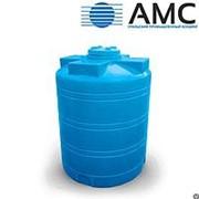 Бак пластиковый 3000 литров вертикальный цилиндрический с крышкой фотография