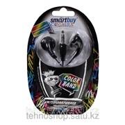 Вставные стерео наушники-вкладыши SmartBuy® Color Band, провод 1.2м, черные SBE-4800/400 фото