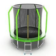 Батут с внутренней сеткой и лестницей EVO Jump Cosmo 6ft (Green) фото